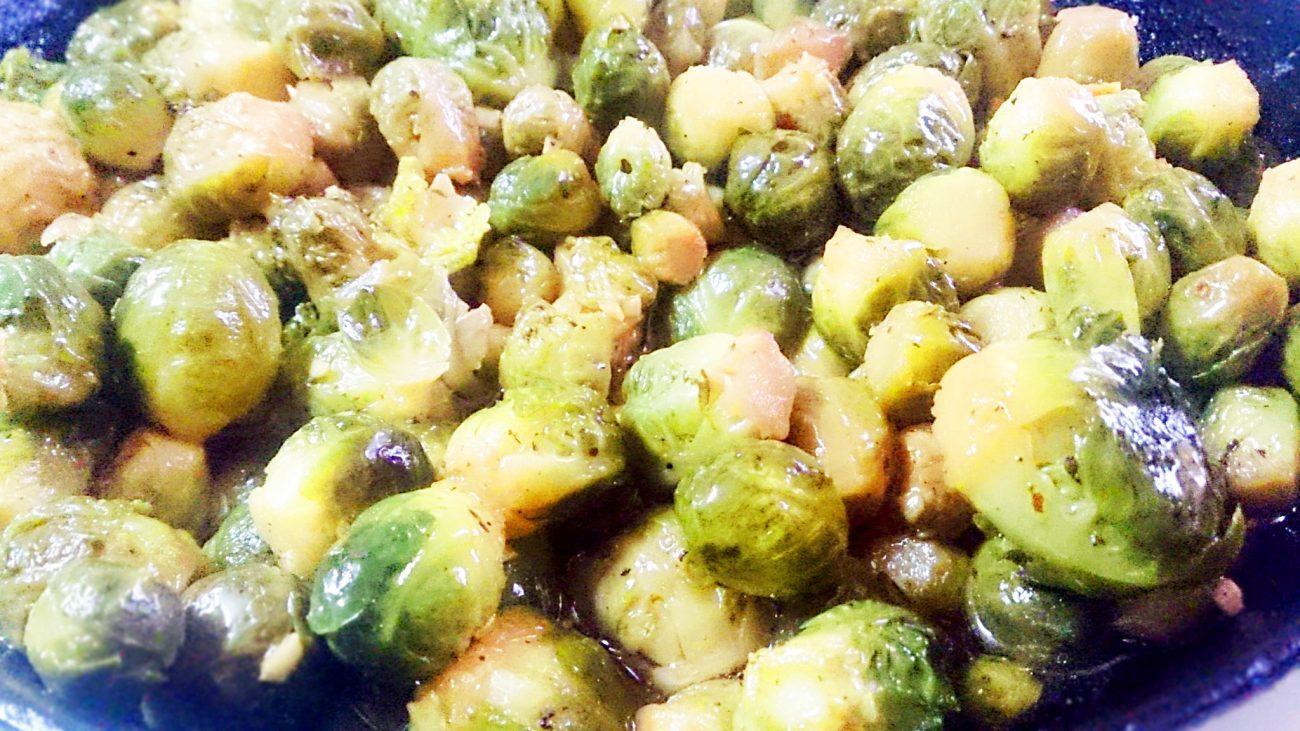 Овощной гарнир — запеченная брюссельская капуста