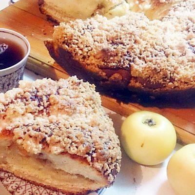 Дрожжевой пирог «Яблочные рожки» - рецепт с фото