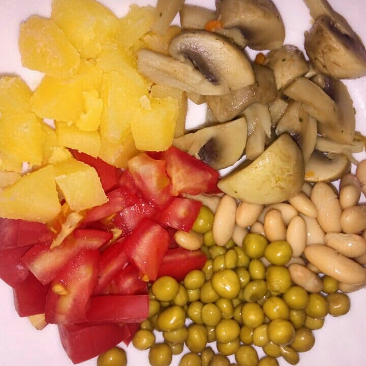 Фото рецепта - Шаурма из лаваша с овощами и грибами на гриле - шаг 1