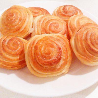 Сдобные булочки с сахаром — «Розочка» - рецепт с фото
