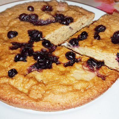 Диетический пирог на овсяной муке с яблоками, в мультиварке - рецепт с фото