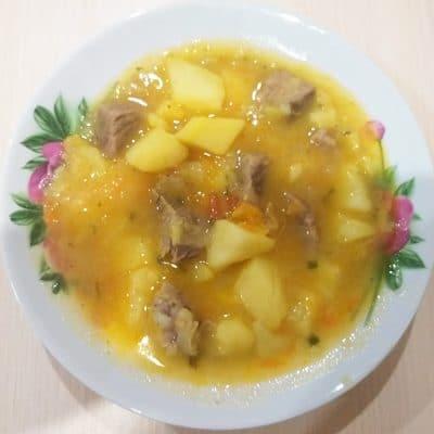 Жаркое из говядины с картошкой - рецепт с фото