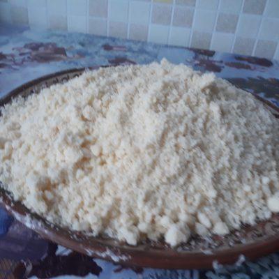 Фото рецепта - Насыпной пирог с творогом - шаг 1