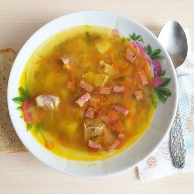 Гороховый суп говядиной и копченой колбасой - рецепт с фото