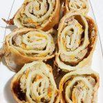 Пирог-рулет » Улитка» с фаршем индейки
