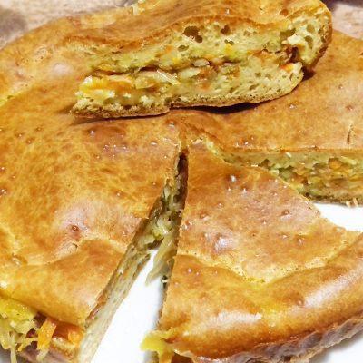 Заливной капустный пирог «Мгновенье» - рецепт с фото