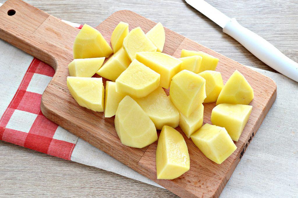 Фото рецепта - Капуста белокочанная, тушенная с картофелем - шаг 3
