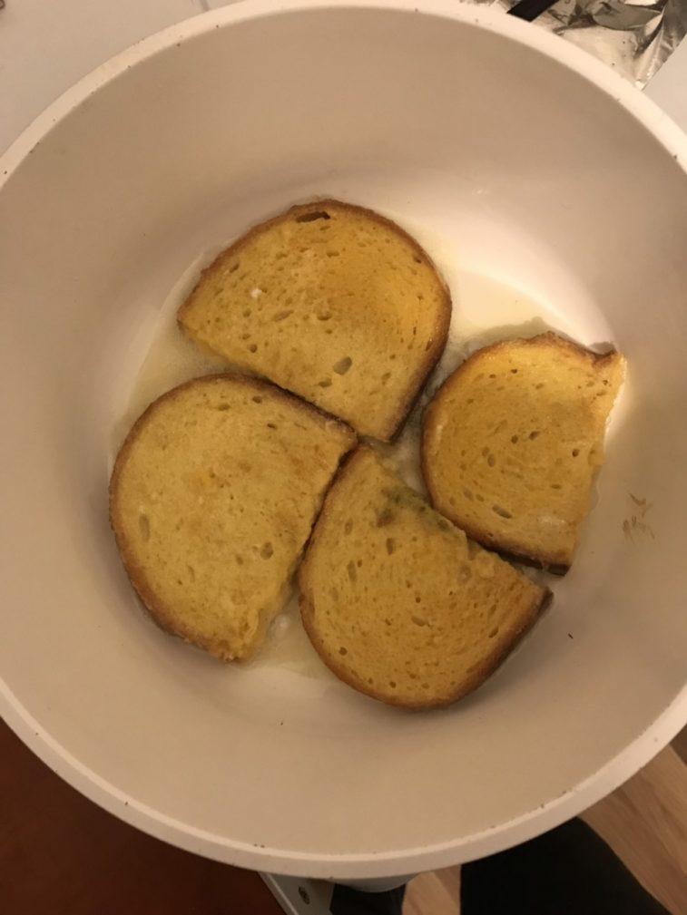 Фото рецепта - Бундаш кениер или гренки в «шубе» - шаг 3