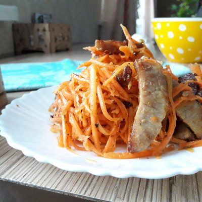 Салат «Морковь по-корейски» с мясом - рецепт с фото
