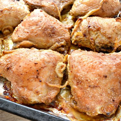 Куриный шашлык в духовке на противне - рецепт с фото