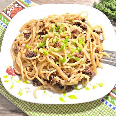 Спагетти по-флотски с фаршем - рецепт с фото
