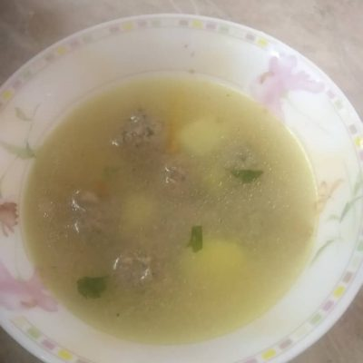 Картофельный суп с фрикадельками - рецепт с фото