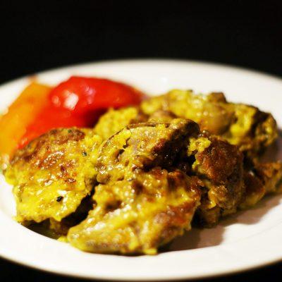Печень куриная жаренная - рецепт с фото