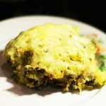 Картофель запеченный с фасолью и грибами