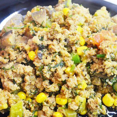 Рагу из кабачков, томатов с фаршем и грибами - рецепт с фото