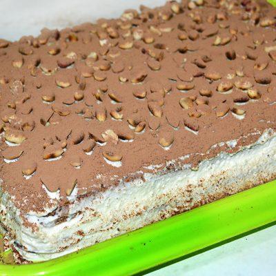 Бисквитный торт с творогом и апельсином - рецепт с фото