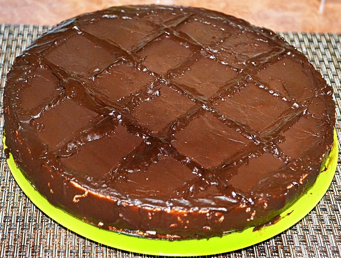 Торт «Баунти» на печенье с творогом