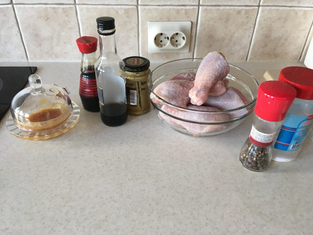 Фото рецепта - Запечённые куриные ножки в горчично-медовом маринаде - шаг 1