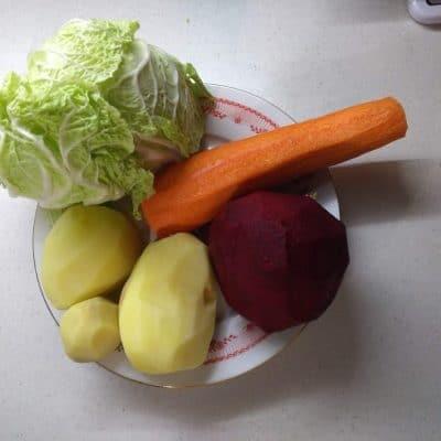 Фото рецепта - Овощной салат со свининой «Чафан» - шаг 2
