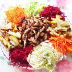 Овощной салат со свининой «Чафан»