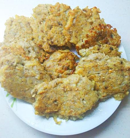 Картофельные котлеты с грибами (драники)