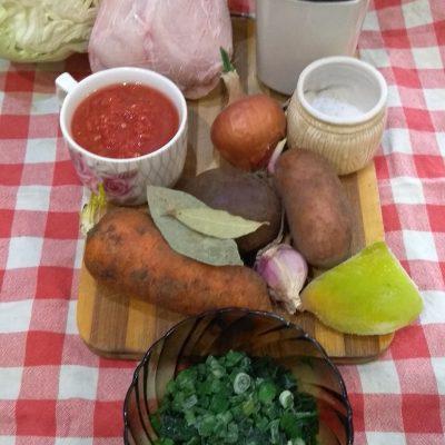 Фото рецепта - Красный борщ из кролика с перцем - шаг 1