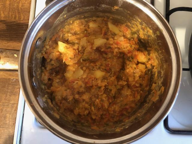 Фото рецепта - Суп-пюре с чечевицей и томатами - шаг 7