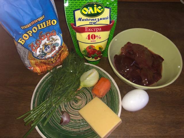 Фото рецепта - Печеночные рулетики с морковно-луковой начинкой - шаг 1