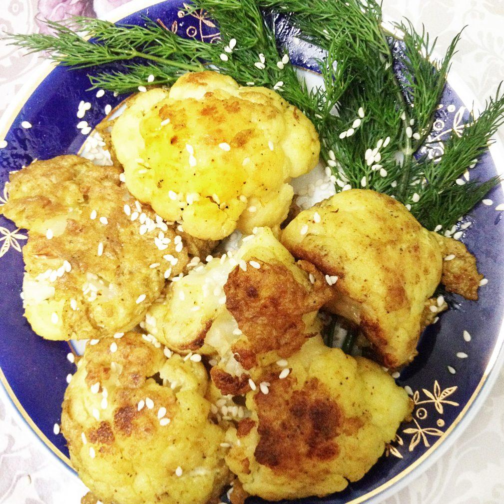 Фото рецепта - Цветная капуста, жареная в яичном кляре - шаг 6