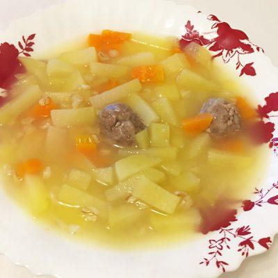 Овощной суп с геркулесом и фрикадельками для детей - рецепт с фото