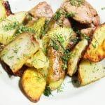 Свинина с картошкой запеченная
