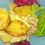 Картофельная запеканка с свино-говяжьим фаршем