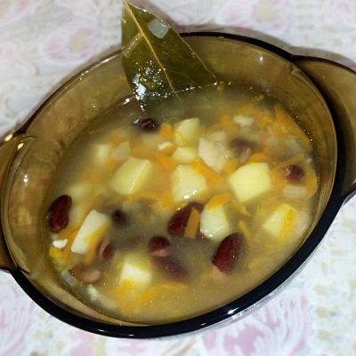 Фасолевый суп без мяса - рецепт с фото