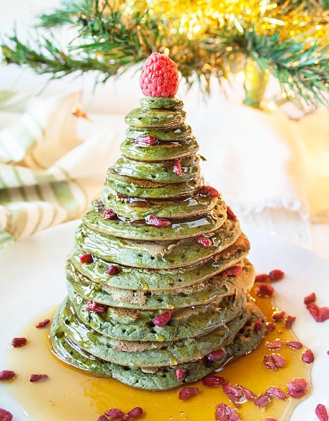 Блинчики на молоке «Рождественская елка»