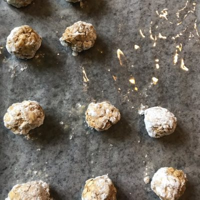 Фото рецепта - Домашнее овсяное печенье - шаг 4