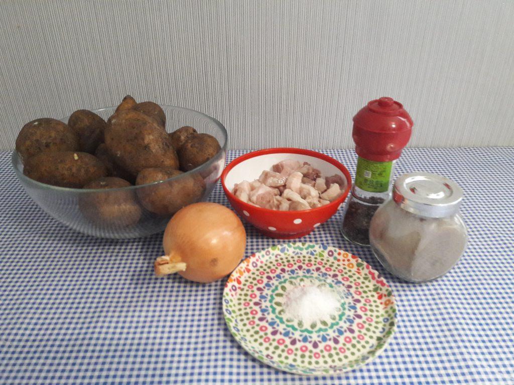 Фото рецепта - Жареный картофель с мясом, как у Бабушки - шаг 1