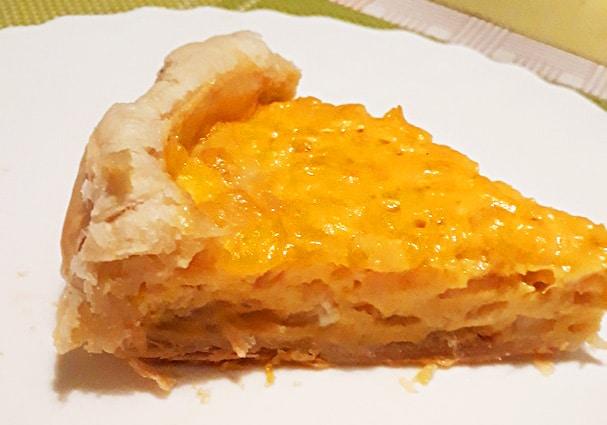 Заливной яично-луковый пирог