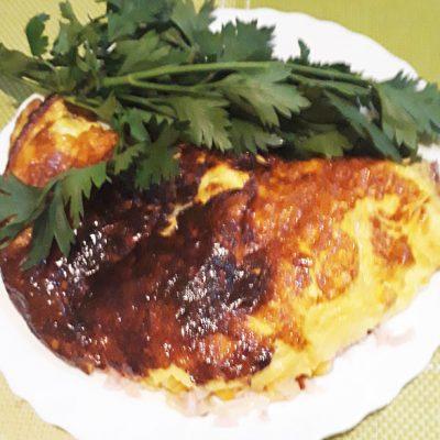 Закрытый омлет с кукурузой и ветчиной - рецепт с фото