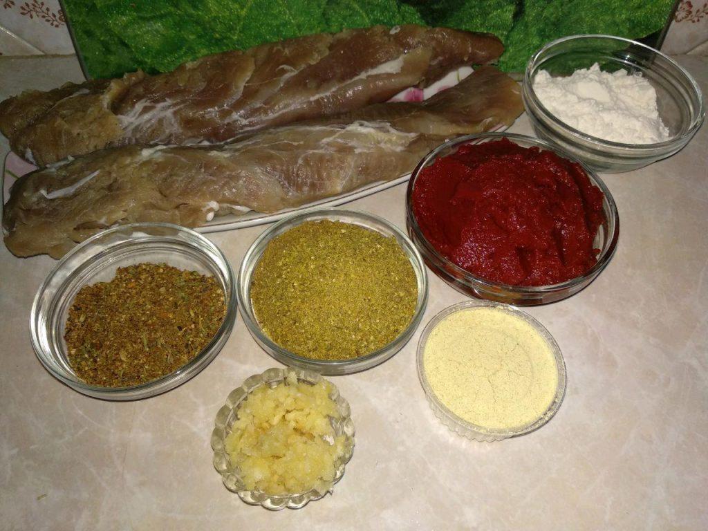 Фото рецепта - Бастурма в домашних условиях из свинины - шаг 2