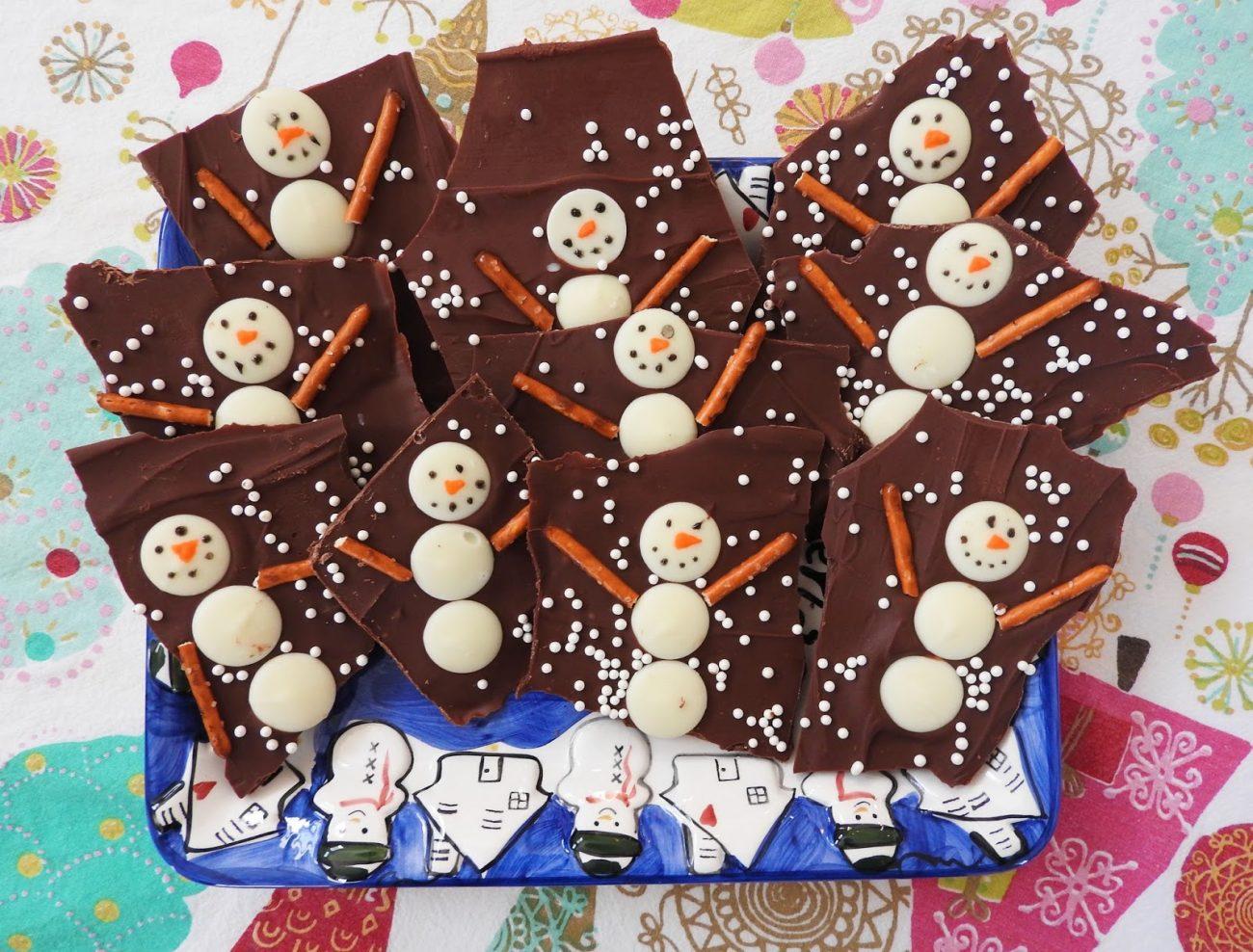 Новогодние конфеты своими руками — «Снеговики»