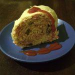 Фото рецепта - Лаваш с крабовыми палочками, сыром и маринованными грибами - шаг 5
