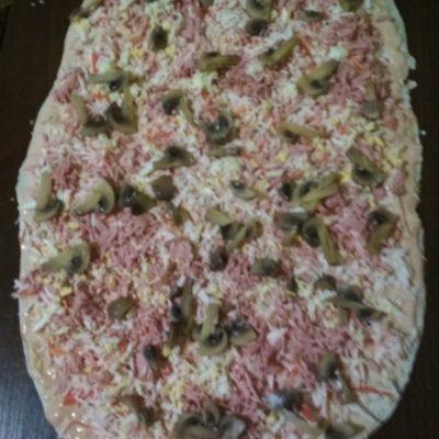 Фото рецепта - Лаваш с крабовыми палочками, сыром и маринованными грибами - шаг 4