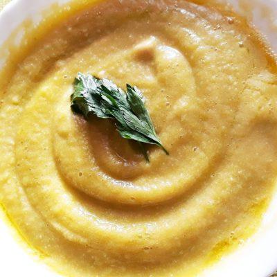 Вегетарианский тыквенно-гороховый суп-пюре с капустой - рецепт с фото