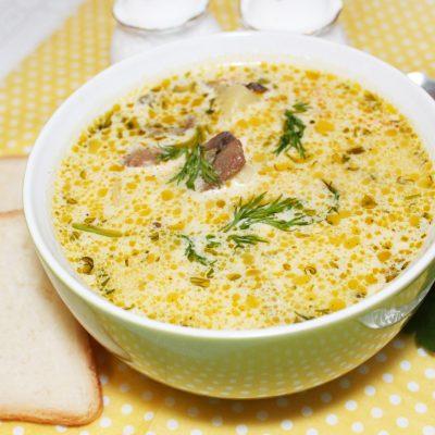 Сырный суп с курицей и грибами - рецепт с фото