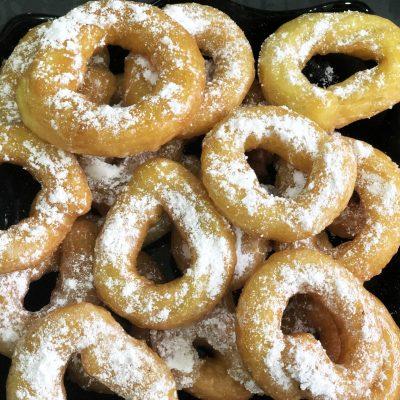Сладкие заварные кольца - рецепт с фото