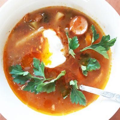 Суп «Мясная солянка» сборная - рецепт с фото