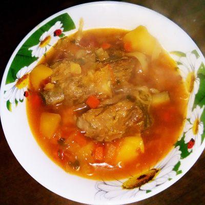 Борщ классический украинский со свининой - рецепт с фото