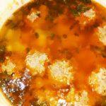 Суп с фрикадельками из говядины