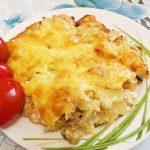 Картофельная запеканка по-деревенски с курицей и грибами