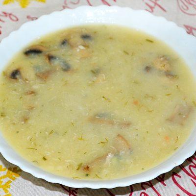 Куриный суп-пюре с грибами - рецепт с фото